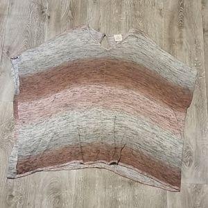🔥 Knox Rose tunic top, pink, gray 🔥
